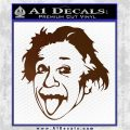 Einstein Sticking Tongue Out Decal Sticker Brown Vinyl 120x120
