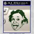 Einstein Sticking Tongue Out Decal Sticker Dark Green Vinyl 120x120