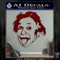 Einstein Sticking Tongue Out Decal Sticker Dark Red Vinyl 120x120