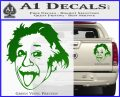 Einstein Sticking Tongue Out Decal Sticker Green Vinyl 120x97