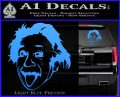 Einstein Sticking Tongue Out Decal Sticker Light Blue Vinyl 120x97