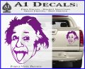 Einstein Sticking Tongue Out Decal Sticker Purple Vinyl 120x97