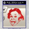 Einstein Sticking Tongue Out Decal Sticker Red Vinyl 120x120