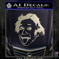 Einstein Sticking Tongue Out Decal Sticker Silver Vinyl 120x120