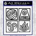 Elements Avatar The Last Airbender Vinyl Decal Black Logo Emblem 120x120