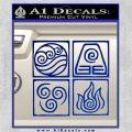 Elements Avatar The Last Airbender Vinyl Decal Blue Vinyl 120x120