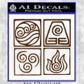Elements Avatar The Last Airbender Vinyl Decal Brown Vinyl 120x120
