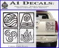 Elements Avatar The Last Airbender Vinyl Decal Carbon Fiber Black 120x97