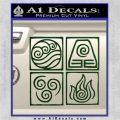 Elements Avatar The Last Airbender Vinyl Decal Dark Green Vinyl 120x120