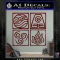 Elements Avatar The Last Airbender Vinyl Decal Dark Red Vinyl 120x120