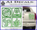 Elements Avatar The Last Airbender Vinyl Decal Green Vinyl 120x97