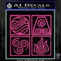 Elements Avatar The Last Airbender Vinyl Decal Hot Pink Vinyl 120x120
