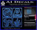 Elements Avatar The Last Airbender Vinyl Decal Light Blue Vinyl 120x97