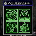Elements Avatar The Last Airbender Vinyl Decal Lime Green Vinyl 120x120