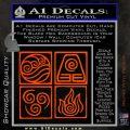 Elements Avatar The Last Airbender Vinyl Decal Orange Vinyl Emblem 120x120