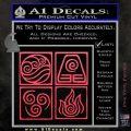 Elements Avatar The Last Airbender Vinyl Decal Pink Vinyl Emblem 120x120