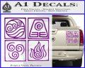 Elements Avatar The Last Airbender Vinyl Decal Purple Vinyl 120x97
