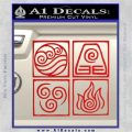 Elements Avatar The Last Airbender Vinyl Decal Red Vinyl 120x120