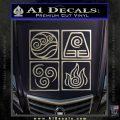 Elements Avatar The Last Airbender Vinyl Decal Silver Vinyl 120x120