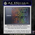 Elements Avatar The Last Airbender Vinyl Decal Sparkle Glitter Vinyl 120x120