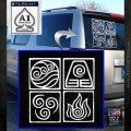 Elements Avatar The Last Airbender Vinyl Decal White Emblem 120x120