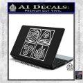Elements Avatar The Last Airbender Vinyl Decal White Vinyl Laptop 120x120