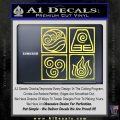 Elements Avatar The Last Airbender Vinyl Decal Yelllow Vinyl 120x120