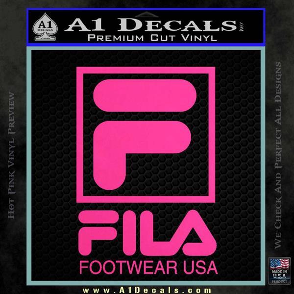 Fila Logo Rdz Decal Sticker 187 A1 Decals
