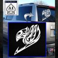 Fairy Tail AnimeTribal Decal Sticker White Emblem 120x120