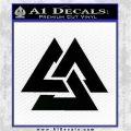 Fallen Warrior Military Decal Sticker Black Logo Emblem 120x120