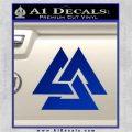 Fallen Warrior Military Decal Sticker Blue Vinyl 120x120