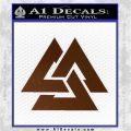 Fallen Warrior Military Decal Sticker Brown Vinyl 120x120