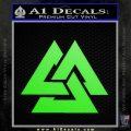Fallen Warrior Military Decal Sticker Lime Green Vinyl 120x120