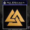 Fallen Warrior Military Decal Sticker Metallic Gold Vinyl 120x120