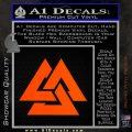 Fallen Warrior Military Decal Sticker Orange Vinyl Emblem 120x120