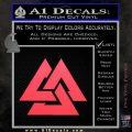 Fallen Warrior Military Decal Sticker Pink Vinyl Emblem 120x120