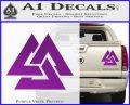 Fallen Warrior Military Decal Sticker Purple Vinyl 120x97