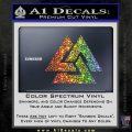 Fallen Warrior Military Decal Sticker Sparkle Glitter Vinyl 120x120