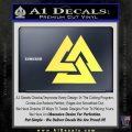 Fallen Warrior Military Decal Sticker Yelllow Vinyl 120x120
