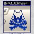 Felix The Cat Crossbones Decal Sticker Blue Vinyl 120x120