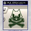 Felix The Cat Crossbones Decal Sticker Dark Green Vinyl 120x120