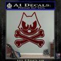 Felix The Cat Crossbones Decal Sticker Dark Red Vinyl 120x120