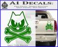 Felix The Cat Crossbones Decal Sticker Green Vinyl 120x97
