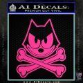 Felix The Cat Crossbones Decal Sticker Hot Pink Vinyl 120x120
