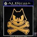 Felix The Cat Crossbones Decal Sticker Metallic Gold Vinyl 120x120