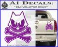 Felix The Cat Crossbones Decal Sticker Purple Vinyl 120x97