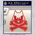 Felix The Cat Crossbones Decal Sticker Red Vinyl 120x120