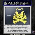Felix The Cat Crossbones Decal Sticker Yelllow Vinyl 120x120
