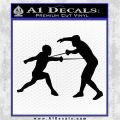 Fencing Decal Sticker D2 Black Logo Emblem 120x120