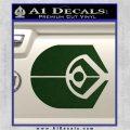 Ferengi Alliance Decal Sticker Star Trek Dark Green Vinyl 120x120